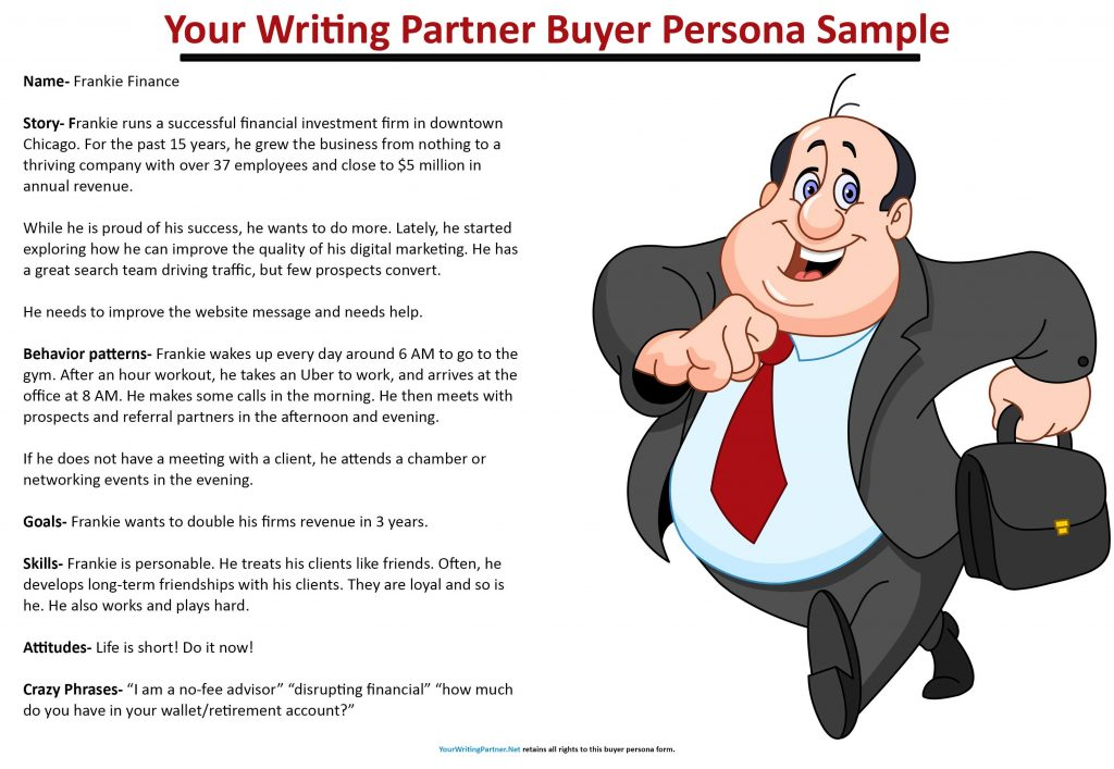 Frankie Finance Buyer Persona Example
